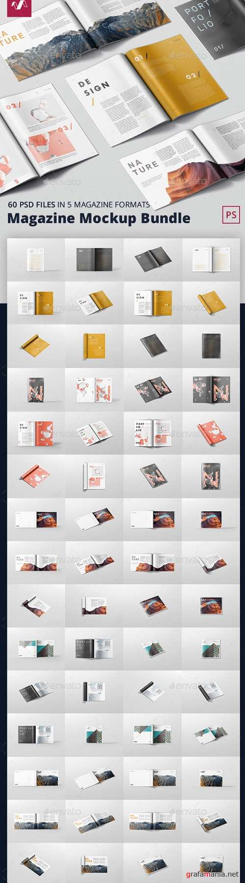 Magazine Mockup Bundle - 21361310