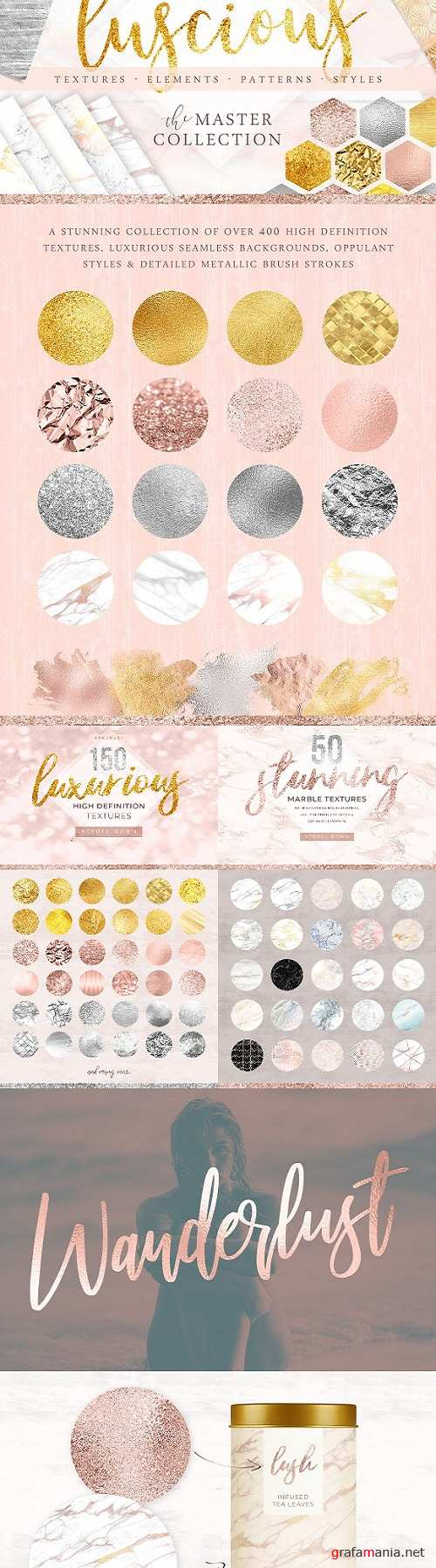 400 Gold & Marble Textures & More - 2268674