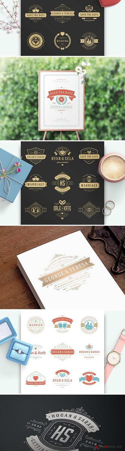 18 Wedding Logos and Badges 2202046