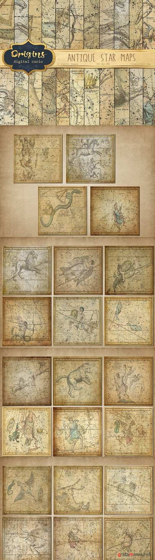 Antique Star Maps Backgrounds - 410946