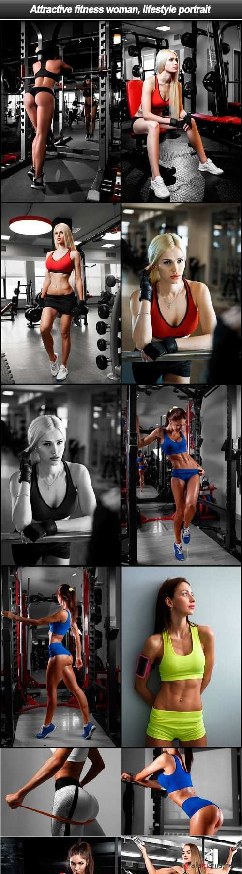 Attractive fitness woman, lifestyle portrait - 20 UHQ JPEG