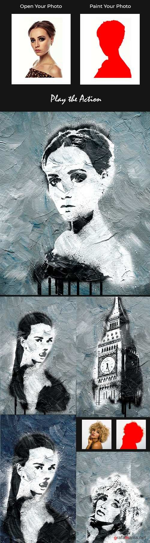 Modern Ink Painting Photoshop Action 21387499