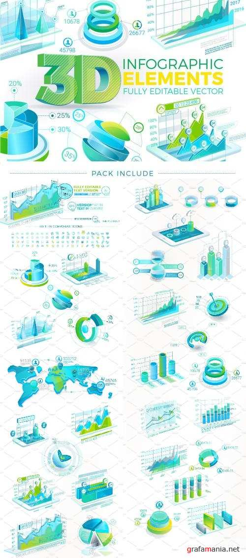 3D Corporate Infographic Elements - 2244593