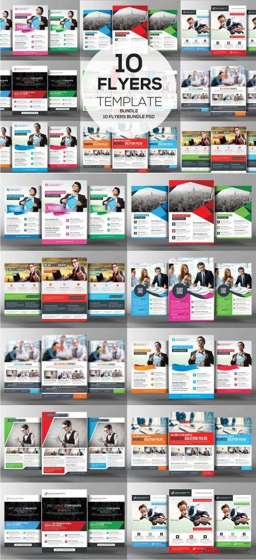 10 Corporate Business Flyer Bundle - 2302589