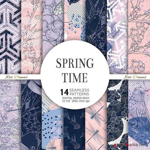 Spring Time Digital Paper 2196241