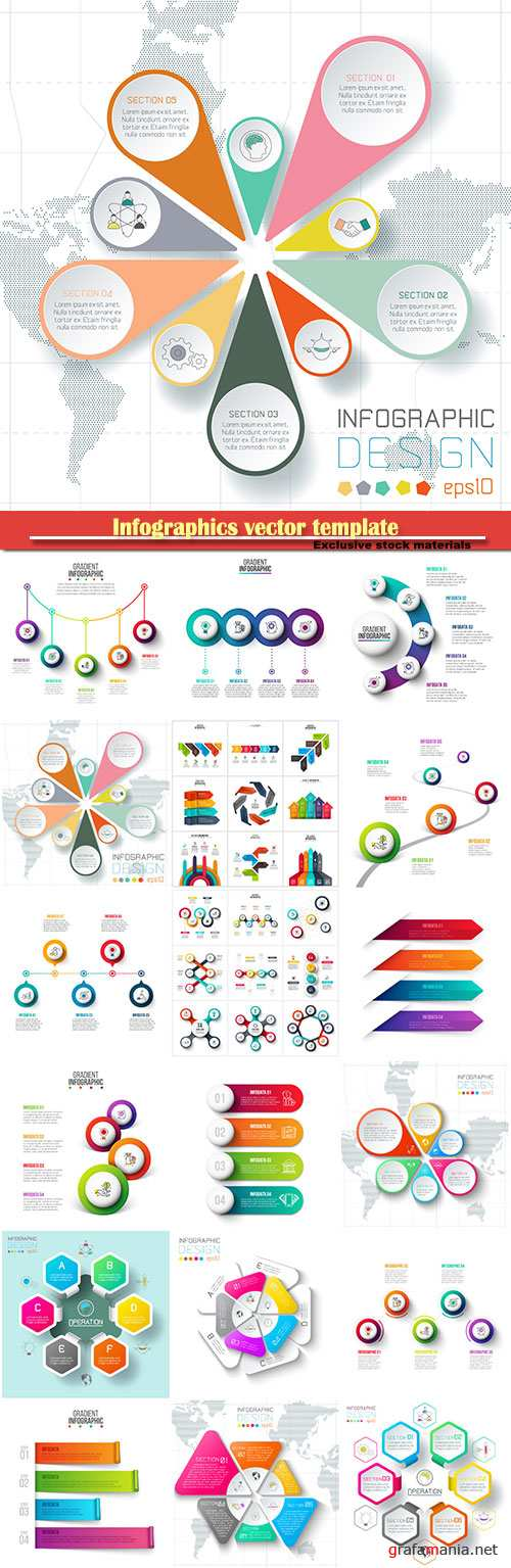 Infographics vector template for business presentations or information banner # 37