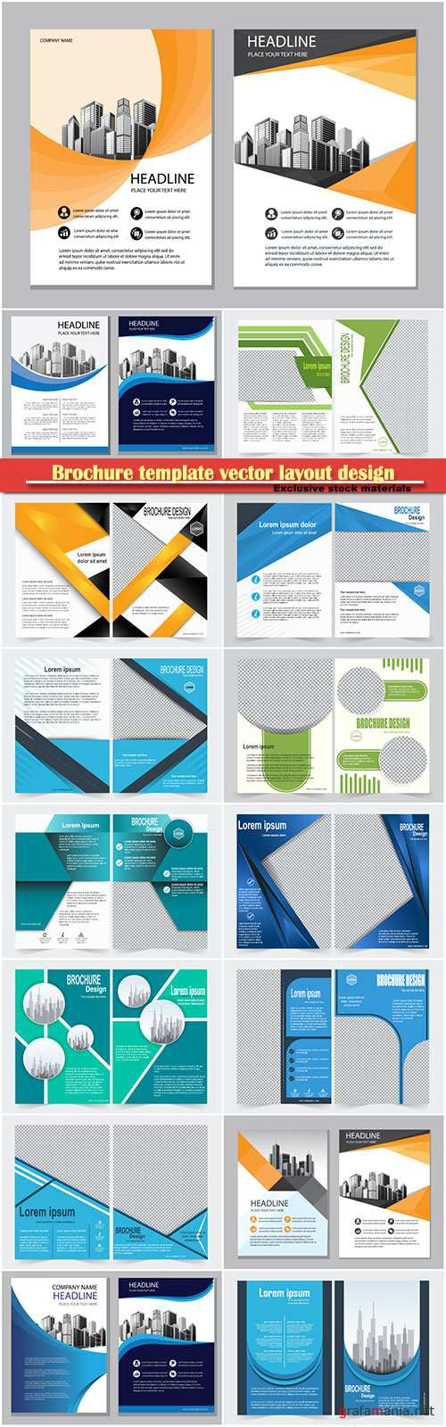 Brochure template vector layout design, corporate business annual report, magazine, flyer mockup # 142