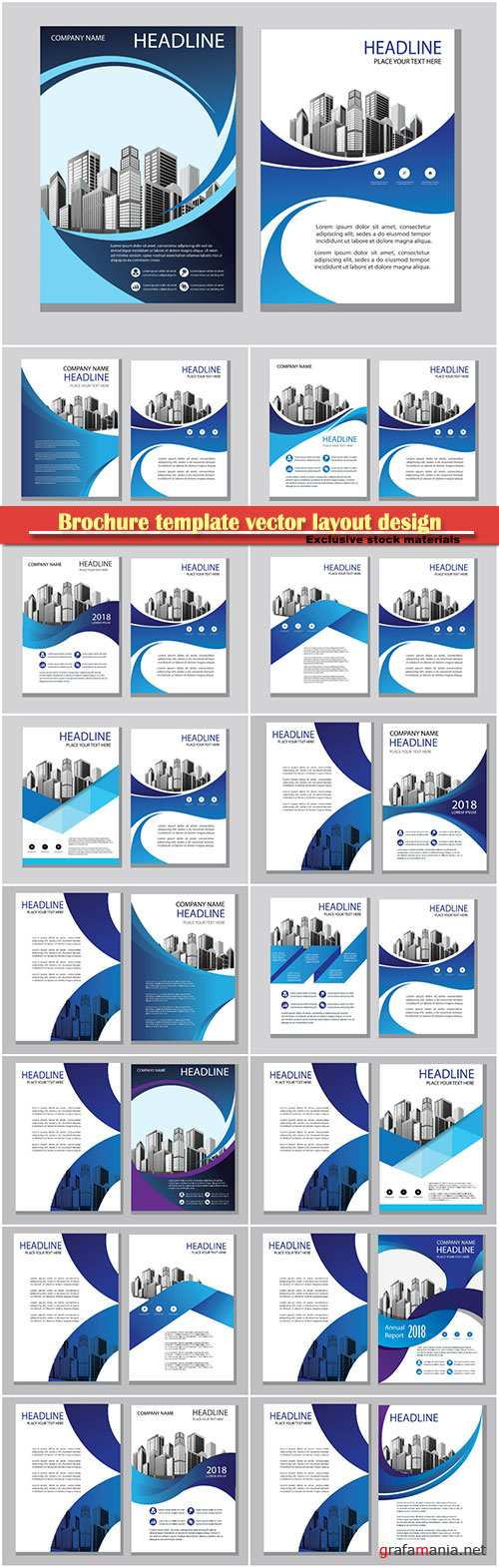 Brochure template vector layout design, corporate business annual report, magazine, flyer mockup # 141