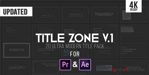 Title Zone V.1 - After Effects Project (Videohive)