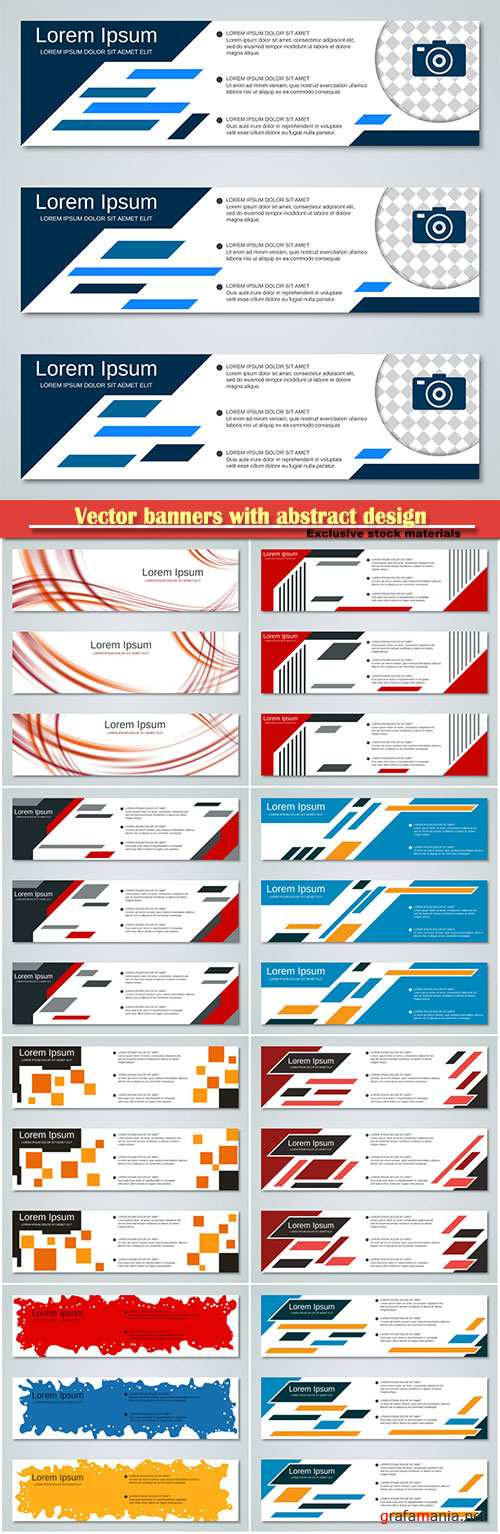 Vector banners with abstract design
