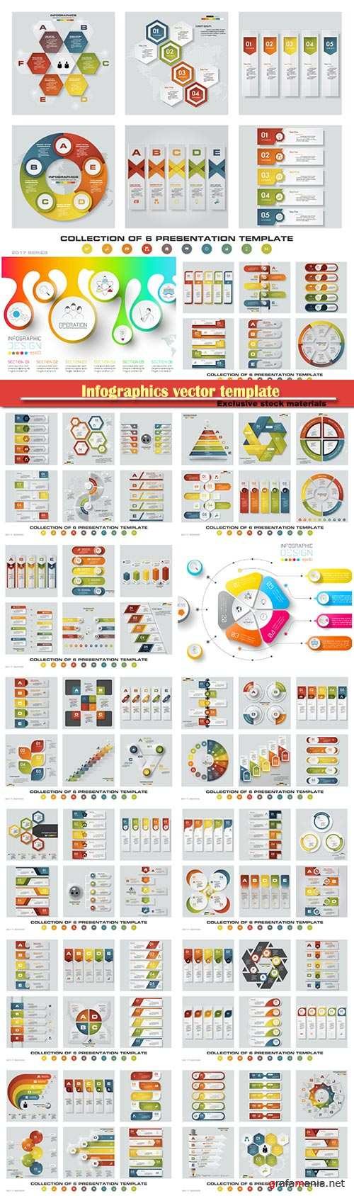 Infographics vector template for business presentations or information banner # 39