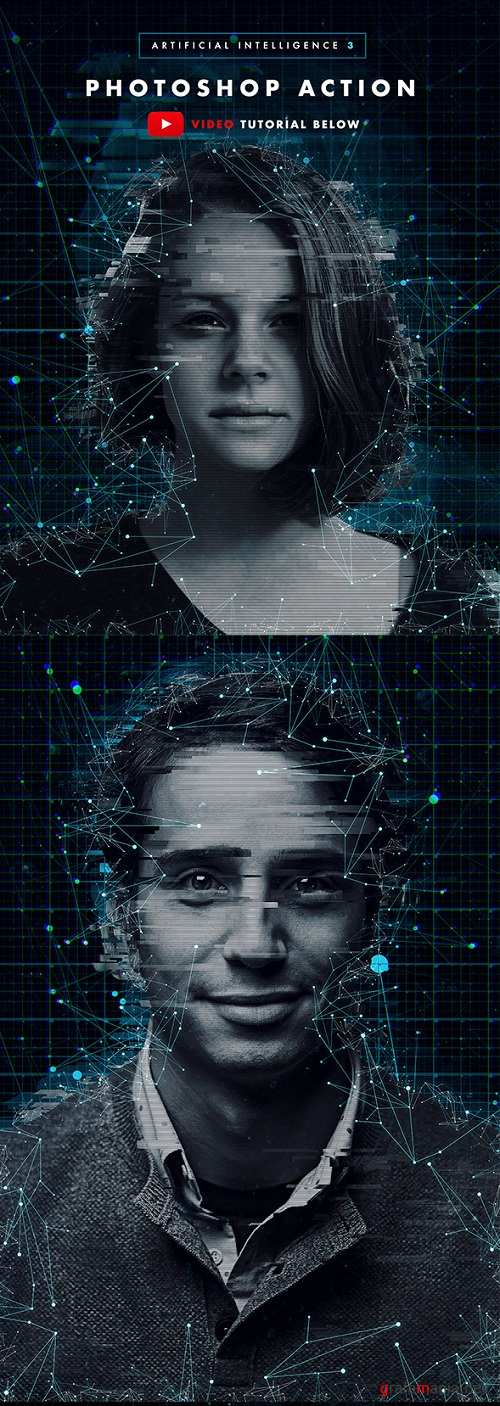 Artificial Intelligence 3 Photoshop Action 21471969