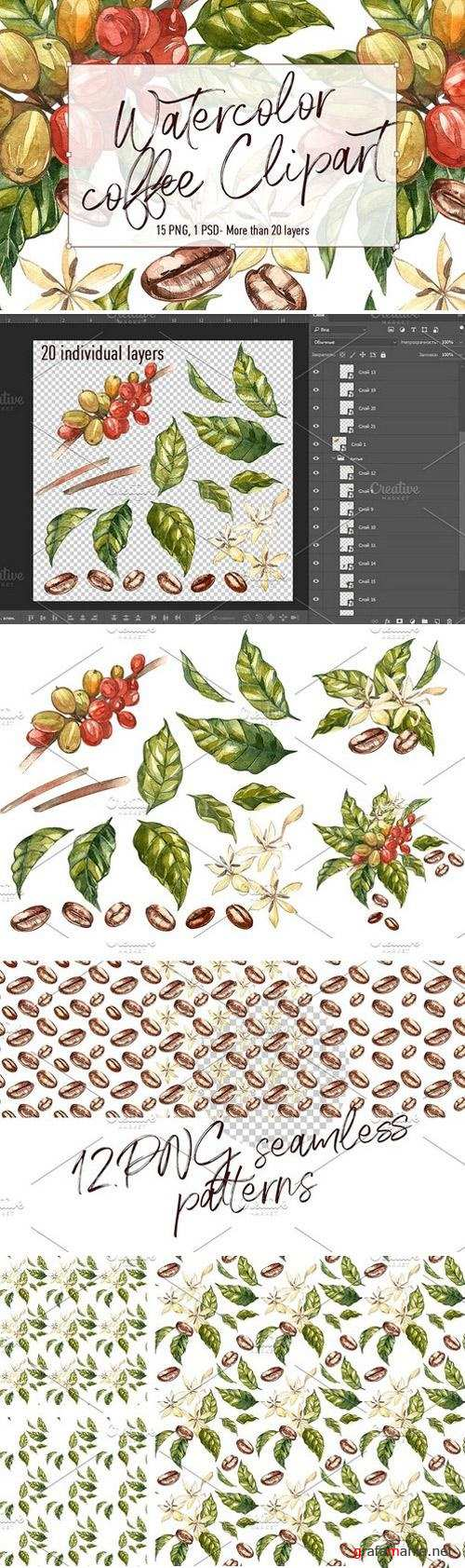 Coffee in botanical style 1623003
