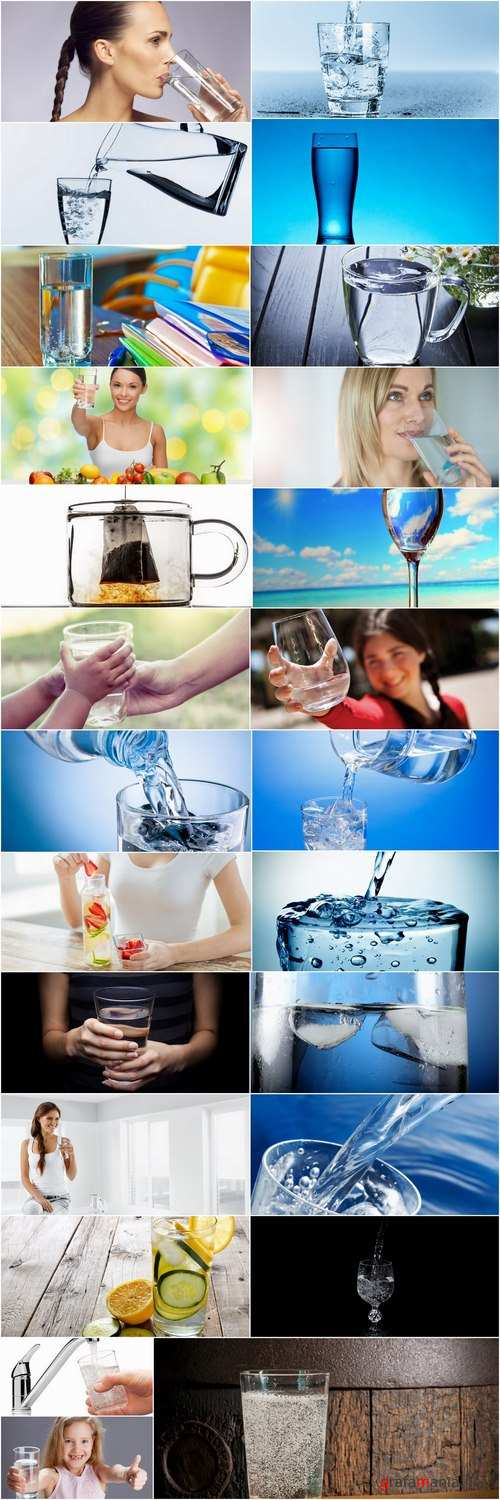 Clean water favor mineral glass bottle container glass 25 HQ Jpeg