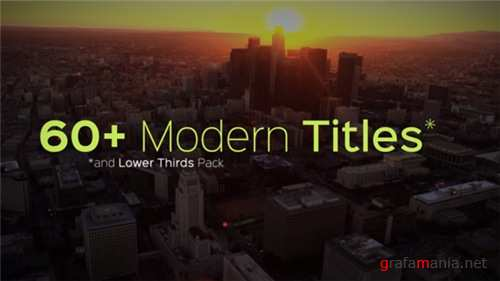 Modern Titles and Lower Thirds - After Effects Project (Videohive)