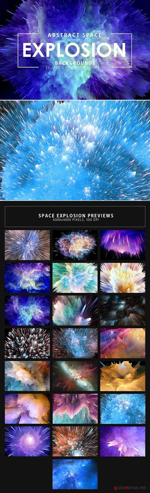 Space Explosion Backgrounds - 2295724