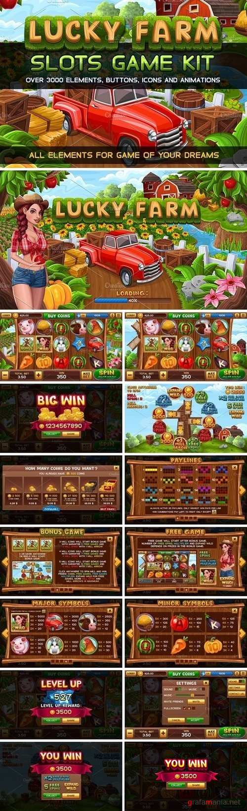 Lucky Farm Slots Game KIT - 1569915