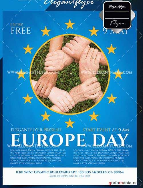 Europe Day V1 2018 Flyer Template