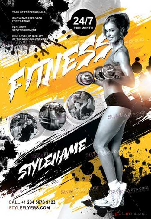 Fitness V7 2018 PSD Flyer Template