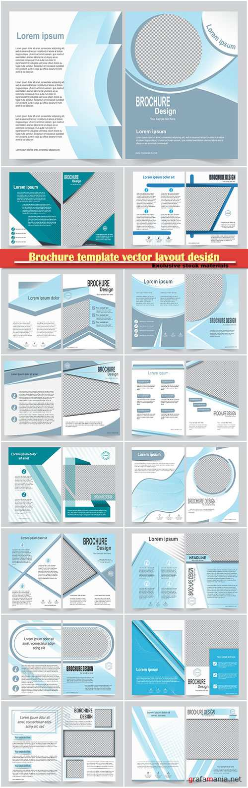Brochure template vector layout design, corporate business annual report, magazine, flyer mockup # 153
