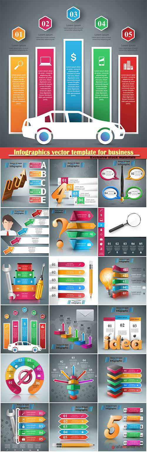 Infographics vector template for business presentations or information banner # 42
