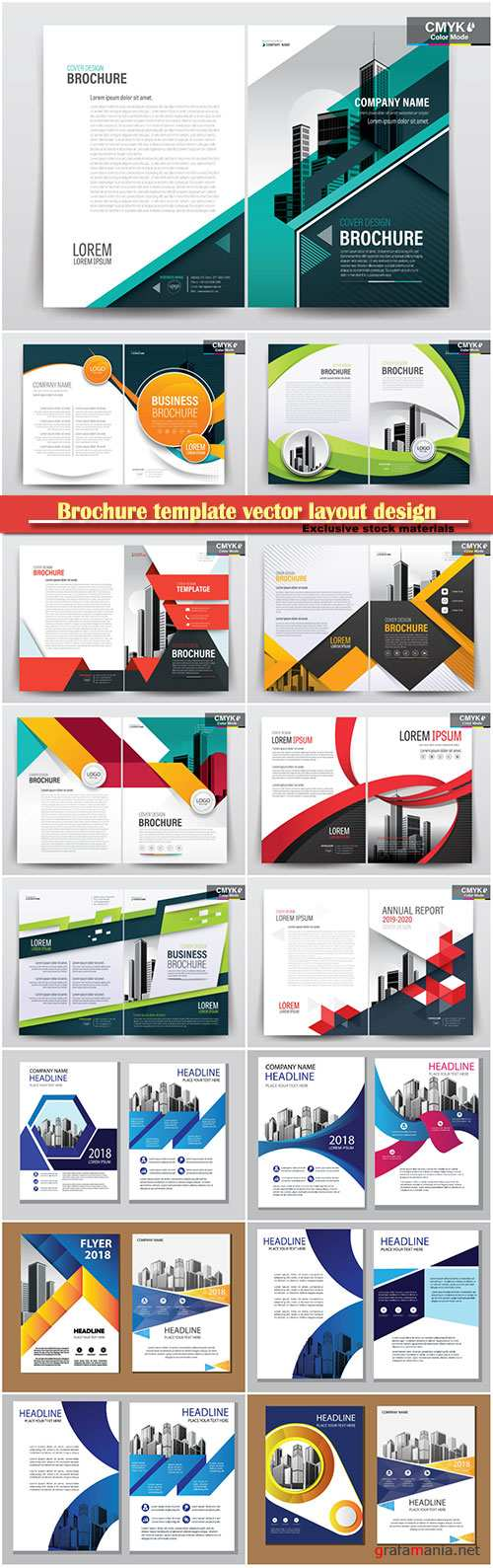 Brochure template vector layout design, corporate business annual report, magazine, flyer mockup # 151