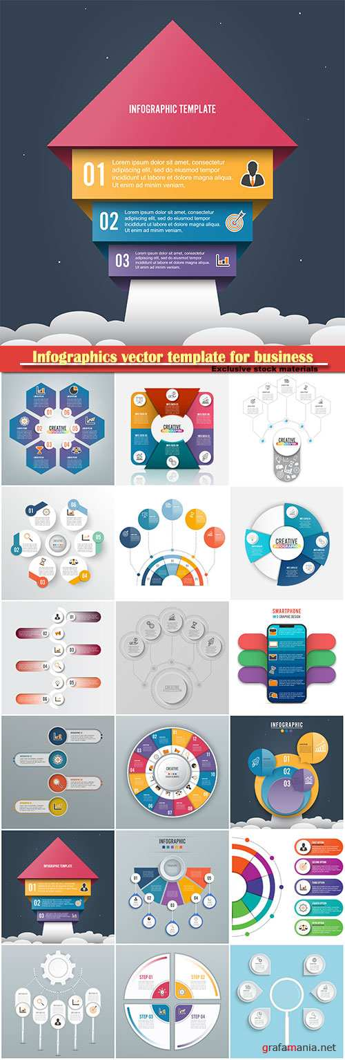 Infographics vector template for business presentations or information banner # 41