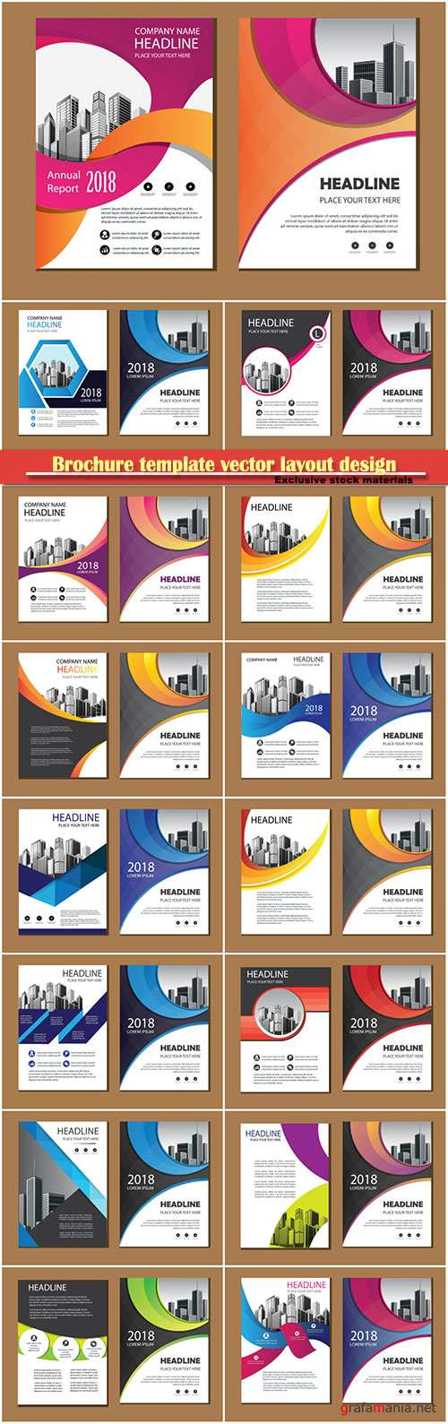 Brochure template vector layout design, corporate business annual report, magazine, flyer mockup # 149