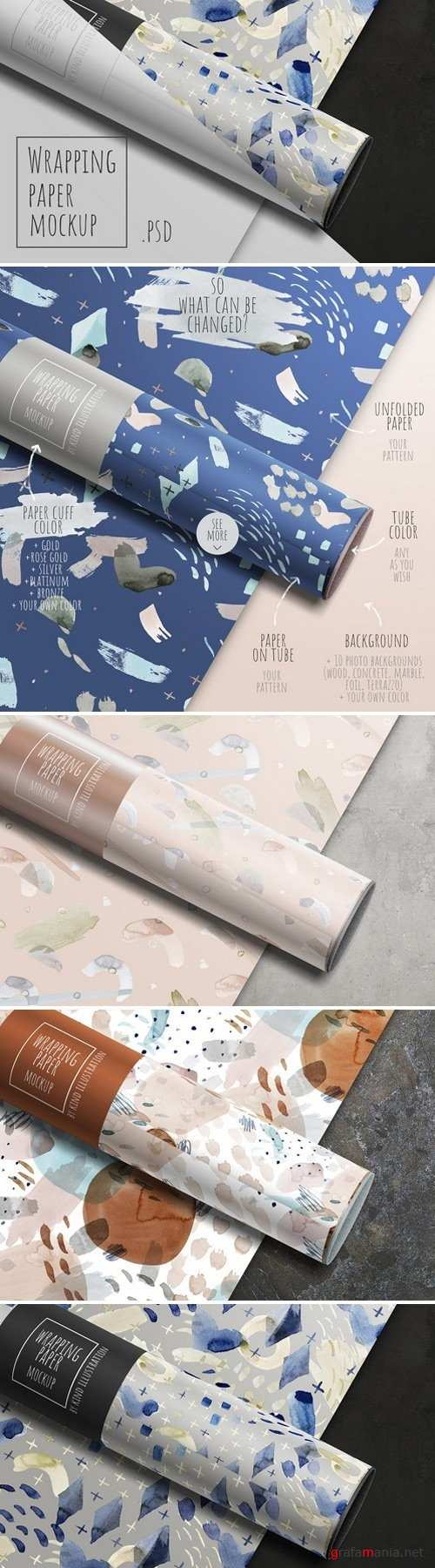 Wrapping paper mockup 2340406