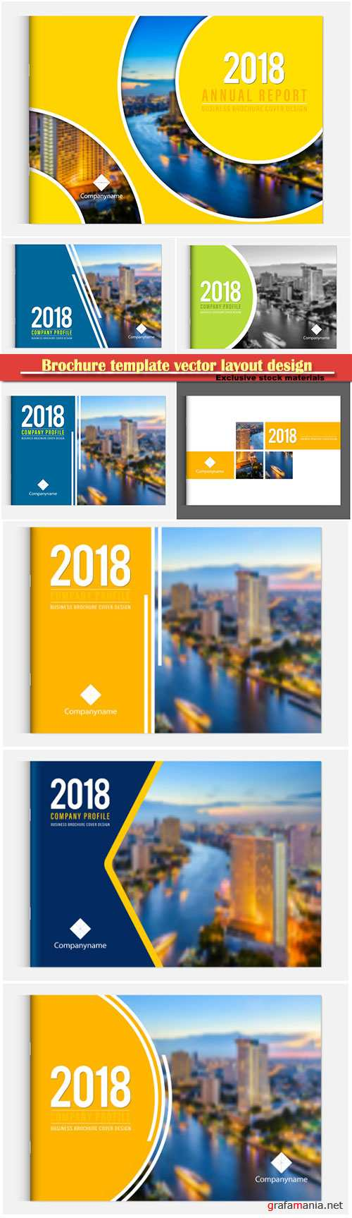 Brochure template vector layout design, corporate business annual report, magazine, flyer mockup # 158