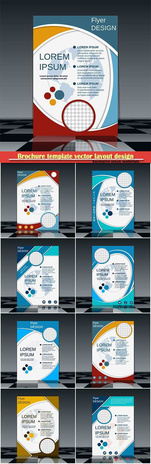Brochure template vector layout design, corporate business annual report, magazine, flyer mockup # 159