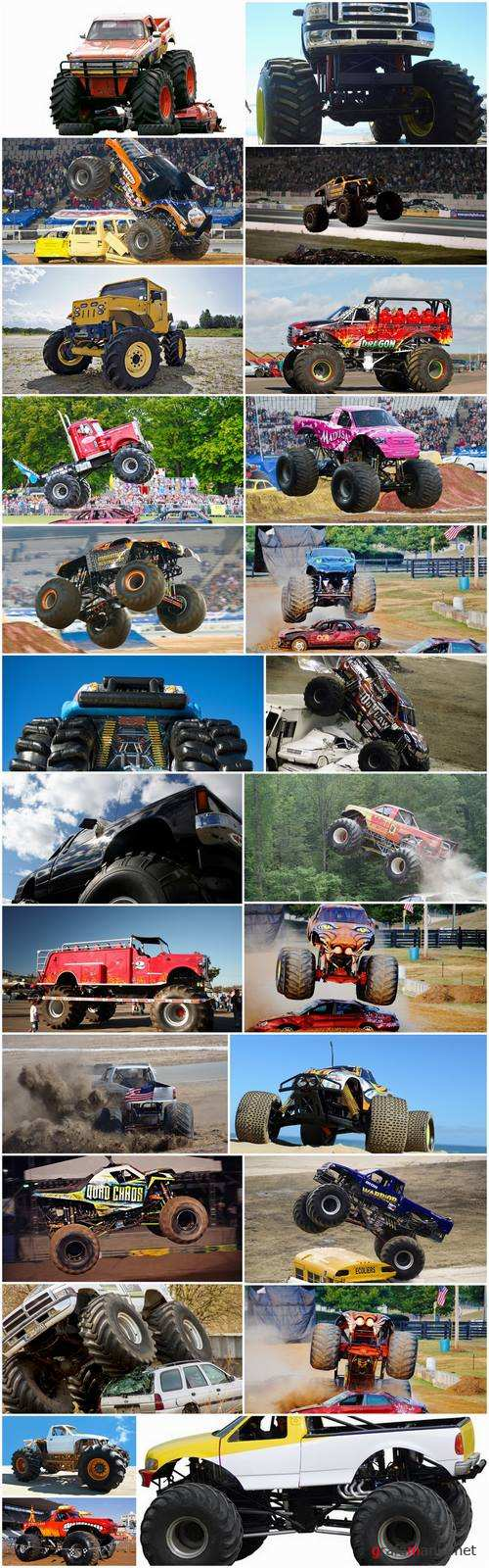 Monster truck lorry car on big wheels bigfoot 25 HQ Jpeg