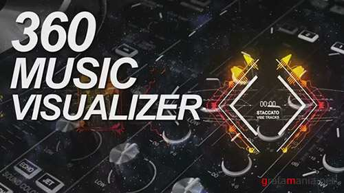 360 Music Visualizer - After Effects Template