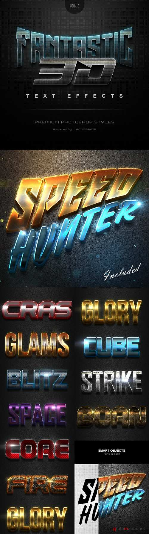 Fantastic 3D Text Effects Vol.9 21651581