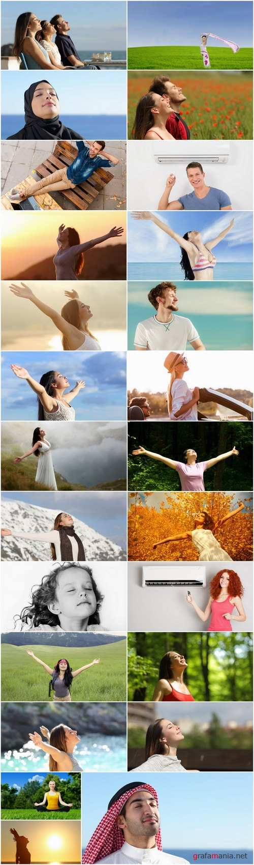 Fresh air breathing relaxation nature man woman 25 HQ Jpeg