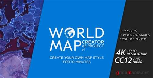 World Map Creator - After Effects Project (Videohive)