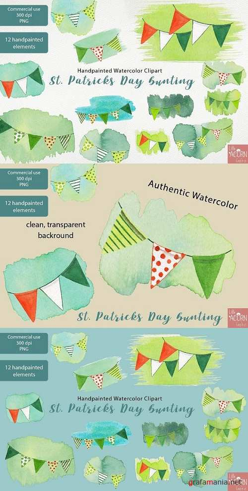 St Patricks Day Bunting clipart PNG - 2319790