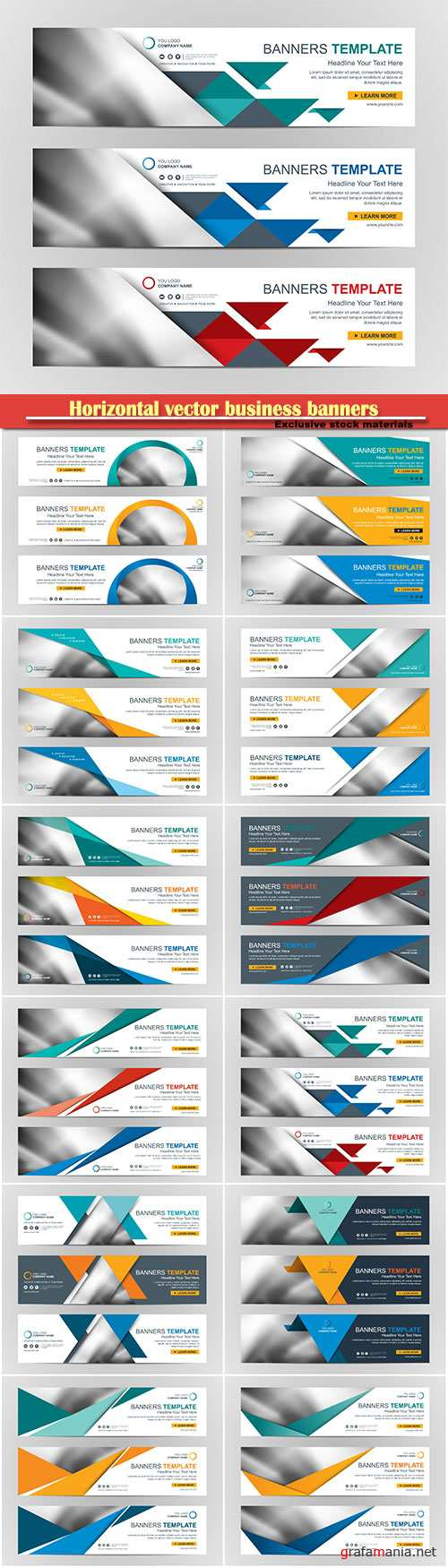 Horizontal vector business banners # 2