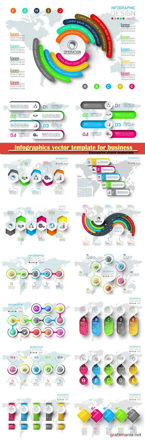 Infographics vector template for business presentations or information banner # 50