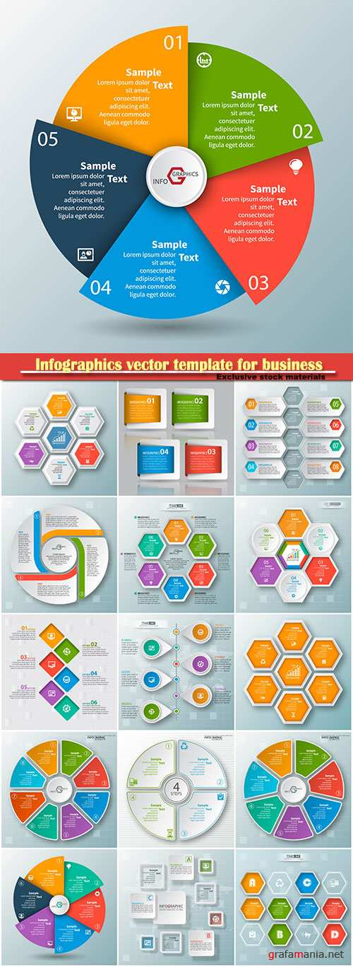 Infographics vector template for business presentations or information banner # 55