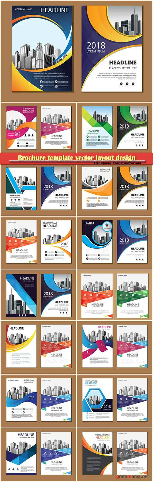 Brochure template vector layout design, corporate business annual report, magazine, flyer mockup # 162