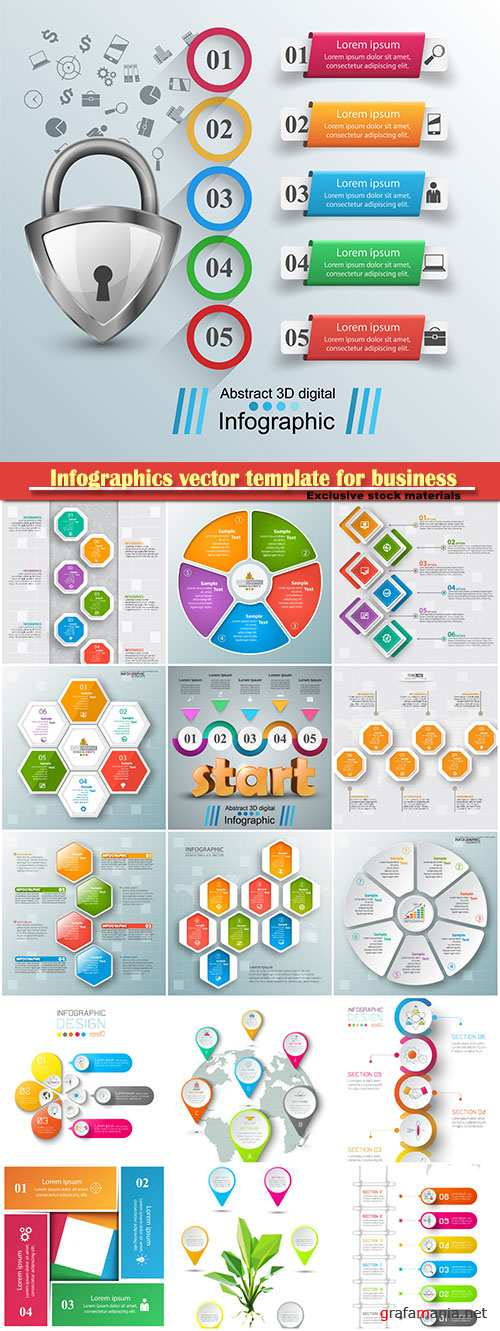 Infographics vector template for business presentations or information banner # 58