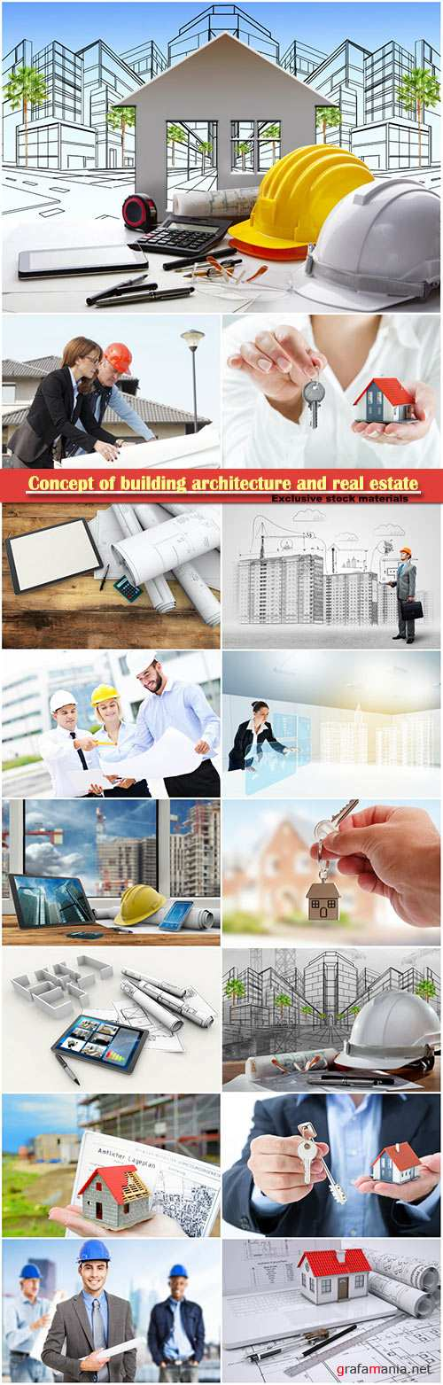 Concept of building architecture and real estate