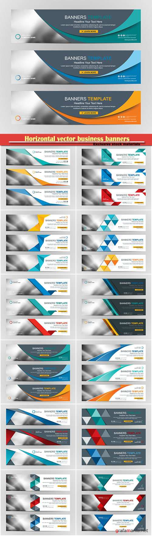 Horizontal vector business banners # 3