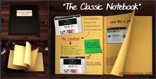 The Classic Notebook - After Effects Project (Videohive)