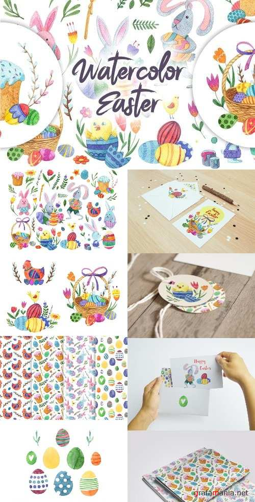 Watercolor Bright Easter - 2370516