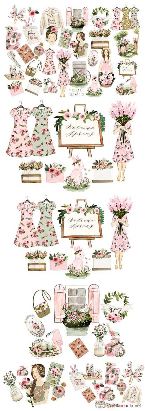 Spring Clipart - 2371034