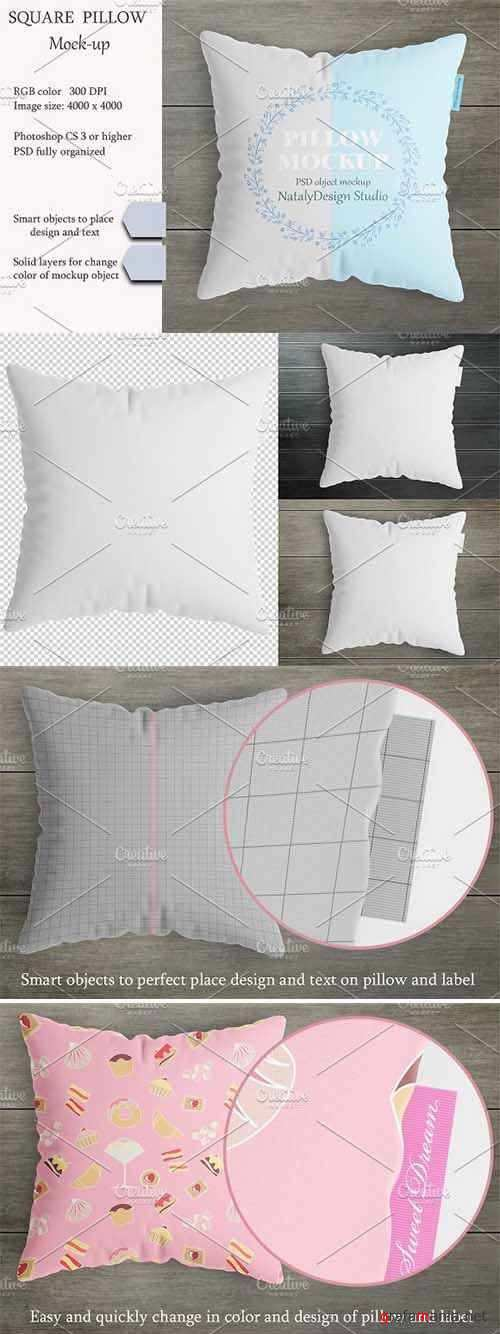 Square pillow mockup Product mockup 2340172