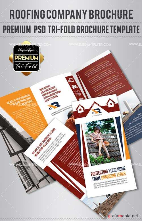 Roofing Company V1 2018 Premium Tri-Fold PSD Brochure Template