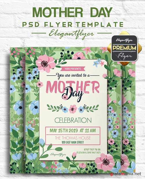 Mother Day V6 2018 Flyer PSD Template
